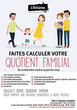 affiche calcul quotient familial